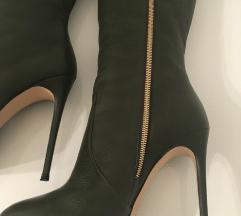 Casadei tamno zelene stiletto čizme