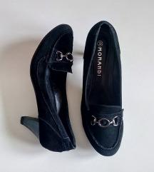 Crne antilop cipele  - MORANDI br.39-PETA 7 cm