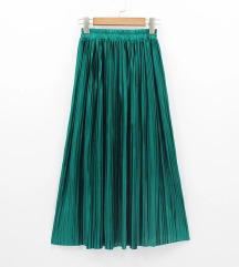 Midi plisirana zelena suknja