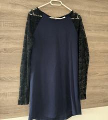 H&M Divided plava tunika haljina