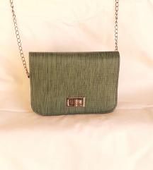 NOVA zeleno-siva torbica