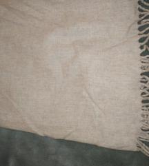Midi vunena suknja sa resama