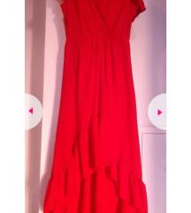 Duga crvena/koraljna haljina