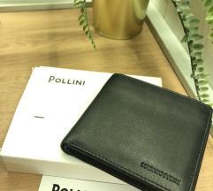 Pollini novi zapakirani muški novčanik KOŽNI