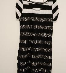 Diadema crno bijela haljina