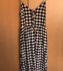 SNIŽENO! ASOS Karirana crno-bijela midi haljina