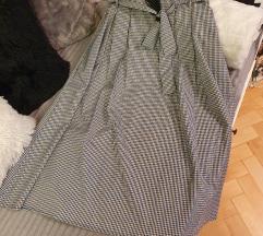 Paper bag karirana suknja