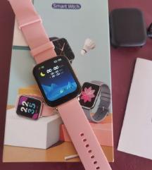 Ženski pametni sat smartwatch - rozo zlatni dizajn