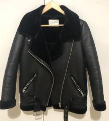 Zara aviator biker jakna XS