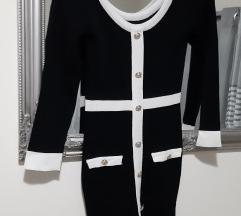 Crno bijela bandage haljina