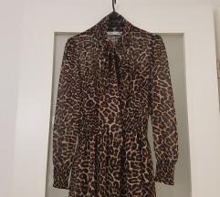 Zara leopard midi haljina