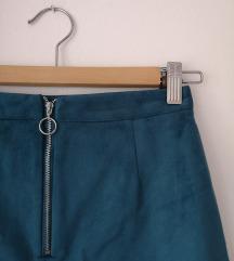 mini suknja od brusene umjetne koze🥰