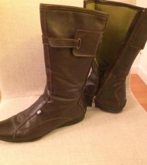 TOMMY HILFIGER-ženske kožne, smeđe čizme