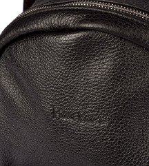 PIERRE CARDIN crni kožni ruksak / torba