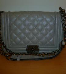 Siva torba za nošenje preko ramena