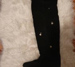 Čizme iznad koljena crne