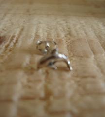 Jedna naušnica - dupin - srebro