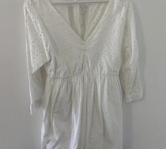 Zara bijela tunika haljina