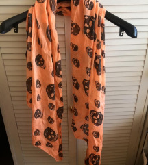narančasta marama s lubanjama