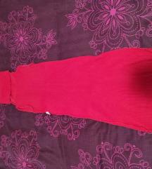 Crvena pencil haljina bez rukava