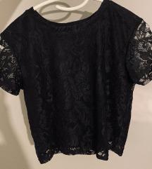 Crna crop top majica
