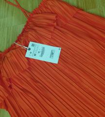 Zara haljina plisirana M