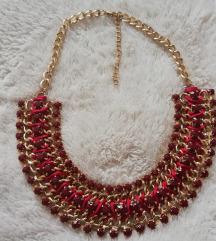 SNIŽENO: Tamnocrvena ogrlica