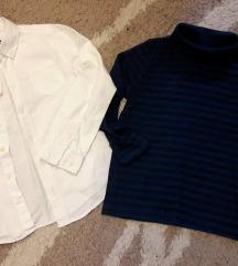 Bijela kosuljica i majica 134