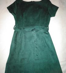 Plišana haljina kratkih rukava