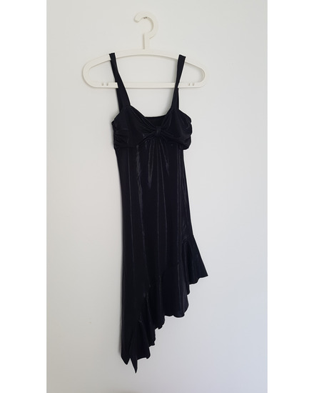 Uska kozna haljina