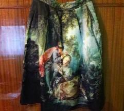 Suknja s vintage printom