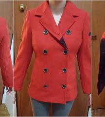 Crveni Esprit kaput od vune