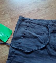 ***NOVO*** Benetton lanene hlače UKLJ. TISAK
