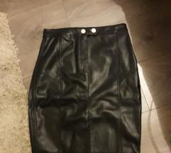 Kozna suknja M novo