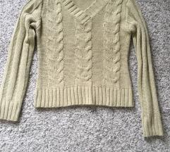Bež pleteni pulover vel S/M