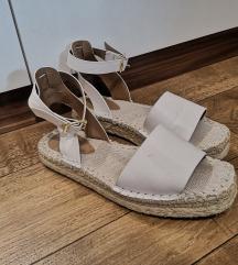 H&M bijele espadrile sandale /sl.uklj.