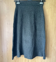 Nova Zara siva midi suknja