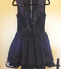 Plava retro svečana haljina