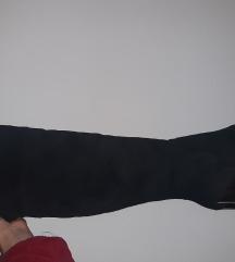 Ženske čizme na petu preko koljena