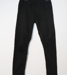 Crne elastin Esmara hlače visoki struk vel. M