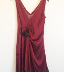 NEBO haljina s ružom_čista svila_PT u cijeni