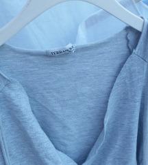 Crop siva vestica/majica na vezanje
