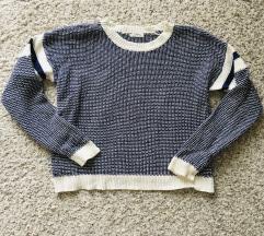 Plavi džemper pulover vel XS-S