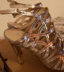 Mass srebrne sandale