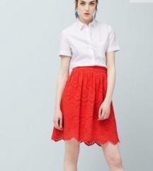 Nova Mango koraljno crvena suknja