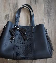Crna torba kožna