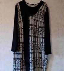 Sivo.crna haljina