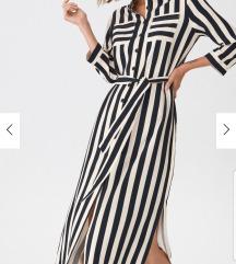 prugasta Midi haljina
