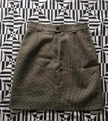 Vintage suknja pepito uzorka veličina 36