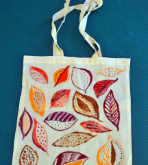 ručno oslikana torba (totebag), unikat